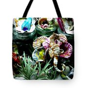 New Seahorse With Coral Imagery Tote Bag