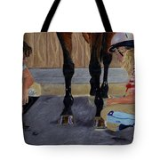 New Shoe Review Horse And Children Painting Tote Bag