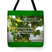 New Things Scripture Tote Bag
