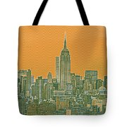 New Tork City Ny Travel Poster 4 Tote Bag