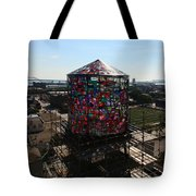 Stained Glass Water Tower In Milwaukee Tote Bag