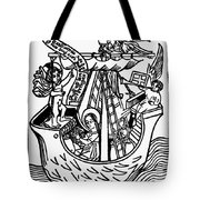 New Year Card, 1450 Tote Bag