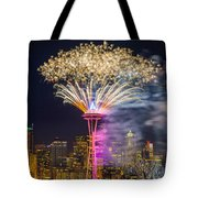 New Year Fireworks - Seattle Tote Bag