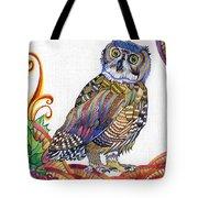 New-year Owl Tote Bag