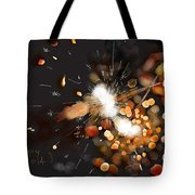 New Year Sparklers Tote Bag