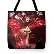 New Years At The Space Needle Tote Bag