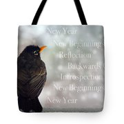 New Years Card Tote Bag