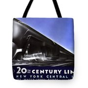 New York 20th Century Limited Train  1938 Tote Bag