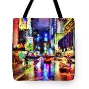 New York At Night - 14 Tote Bag