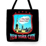 New York Big Apple Design Tote Bag