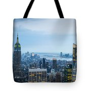 New York Blues Tote Bag