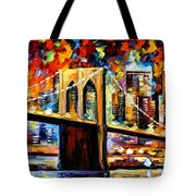 New York Brookyln Bridge Tote Bag