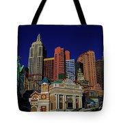 New York Casino At Night Tote Bag