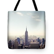 New York City - Empire State Building Panorama Tote Bag
