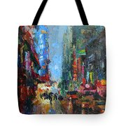 New York City 42nd Street Painting Tote Bag