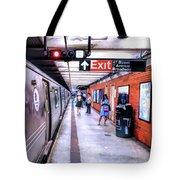 New York City Broadway Subway Station Tote Bag