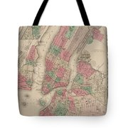 New York City, Brooklyn, Jersey City, Hoboken Tote Bag
