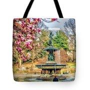 New York City Central Park Bethesda Fountain Blossoms Tote Bag