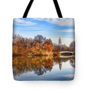 New York City Central Park Bow Bridge - Impressions Of Manhattan Tote Bag