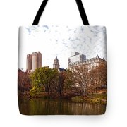 New York City Central Park Living - Impressions Of Manhattan Tote Bag