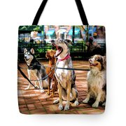 New York City Dog Walking Tote Bag