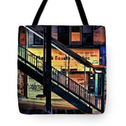 New York City Elevated Subway Stairs Tote Bag