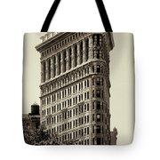 New York City - Flatiron In Sepia Tote Bag
