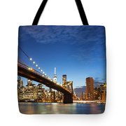 New York City Manhattan Skyline Panorama Tote Bag