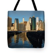 New York City Morning Reflections - Impressions Of Manhattan Tote Bag