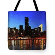 New York City Night Lights Tote Bag