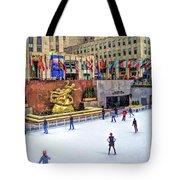 New York City Rockefeller Center Ice Rink Tote Bag