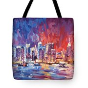 New York City Skyline 02 Tote Bag