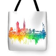 New York City Skyline Color Tote Bag