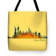 New York City Skyline Hq V01 Tote Bag