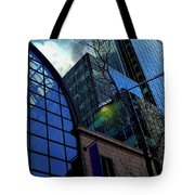 New York City Skyline, No. 27 - Yellow Street Lamp Tote Bag