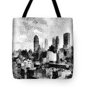 New York City Skyline Sketch Tote Bag