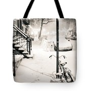 New York City - Snow Tote Bag by Vivienne Gucwa