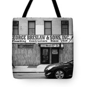 New York City Storefront Bw4 Tote Bag