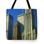New York City - Woolworth Building And World Trade Center Tote Bag