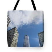 New York City's Freedom Tower - A Perspective Tote Bag