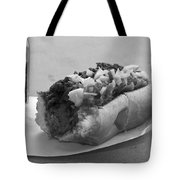 New York Corner Deli Dog Tote Bag by Betsy Knapp