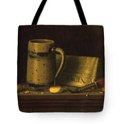 New York Daily News By William Michael Harnett Tote Bag