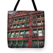 New York Fire Escapes Tote Bag