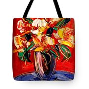 New York Flowers Tote Bag
