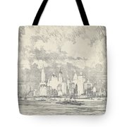 New York From Ellis Island Tote Bag
