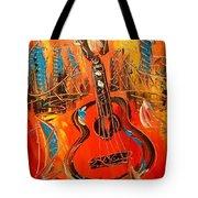 New York Guitar Tote Bag