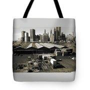 Old New York Harbor Skyline Tote Bag