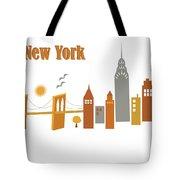 New York Horizontal Scene - Brooklyn Bridge Tote Bag