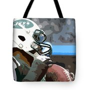 New York Jets Football Team And Original Yellow Typography Tote Bag