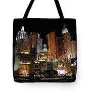 New York Las Vegas Tote Bag